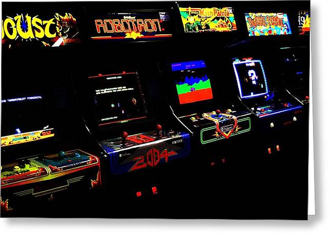80s Greeting Cards - Arcade Forever Williams Greeting Card by Benjamin Yeager