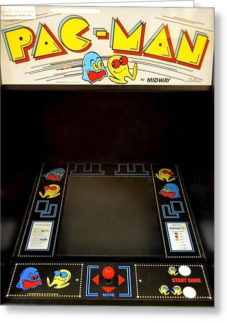 Pac Man Greeting Cards - Arcade Madness Greeting Card by Frozen in Time Fine Art Photography