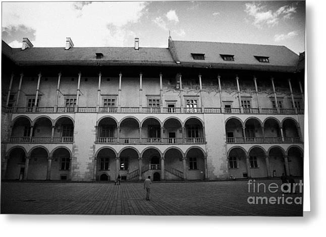 Polish City Greeting Cards - Arcaded Courtyard In Wawel Hill Castle Greeting Card by Joe Fox