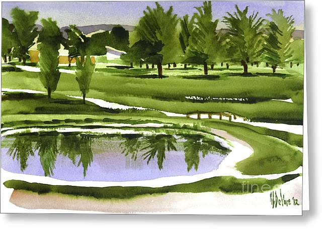 Linked Mixed Media Greeting Cards - Arcadia Valley Country Club Dramatic Greeting Card by Kip DeVore