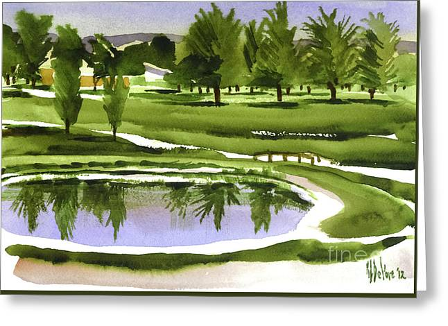 Arcadia Mixed Media Greeting Cards - Arcadia Valley Country Club Dramatic Greeting Card by Kip DeVore