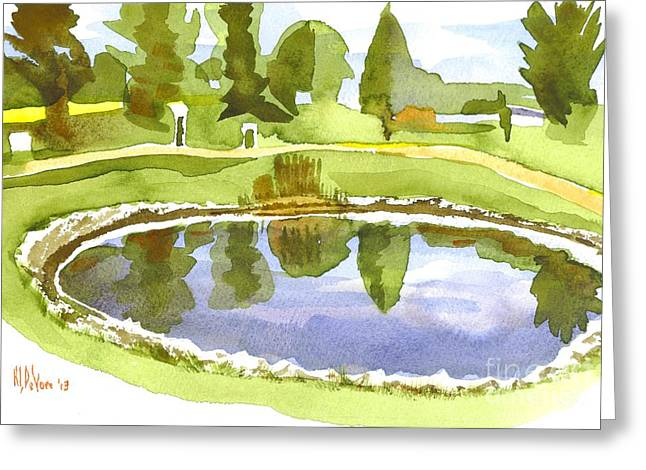 Linked Paintings Greeting Cards - Arcadia Valley Country Club II Greeting Card by Kip DeVore