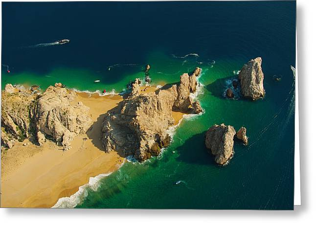 Divorce Greeting Cards - Arch Aereal View Divorce Beach Side Greeting Card by Camilla Fuchs