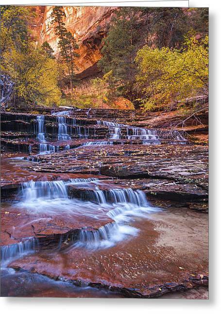 Arch Greeting Cards - Arch Angel Cascades Greeting Card by Joseph Rossbach