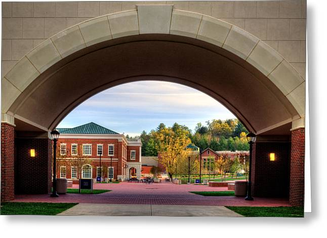 Wcu Greeting Cards - Arch at Balsam Hall - Western Carolina University Greeting Card by Greg and Chrystal Mimbs