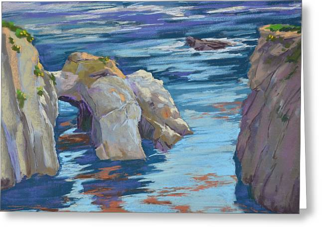 China Cove Greeting Cards - Arch at China Cove Greeting Card by Patricia Rose Ford