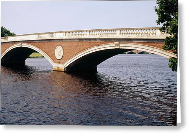 Arched Bridge Greeting Cards - Arch Bridge Across A River, Anderson Greeting Card by Panoramic Images