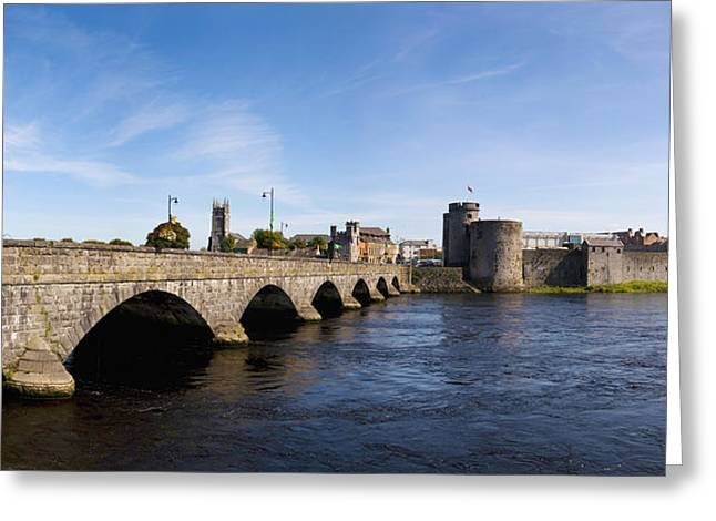Shannon Greeting Cards - Arch Bridge Across A River, Thomond Greeting Card by Panoramic Images