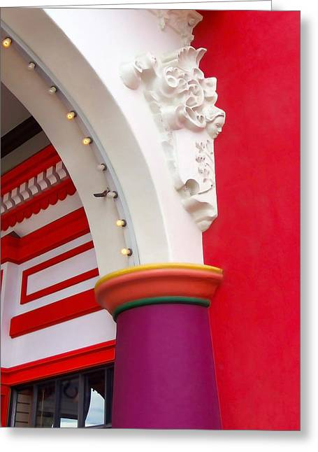 Santa Cruz Art Greeting Cards - Arch Detail Greeting Card by Art Block Collections