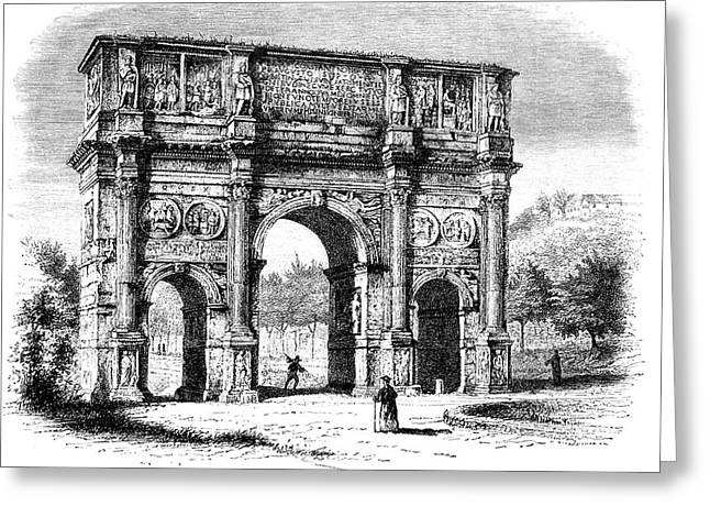 Arch Of Constantine Greeting Card by Collection Abecasis