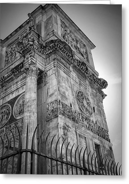 Religion Greeting Cards - Arch of Constantine Greeting Card by Joan Carroll