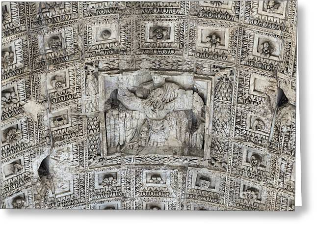 Domitian Greeting Cards - Arch of Titus  Greeting Card by John Greim