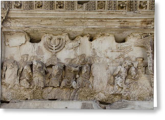 Domitian Greeting Cards - Arch of Titus Rome Greeting Card by Daniel Blatt