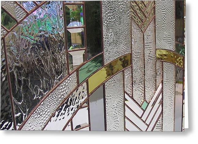 Panel Glass Art Greeting Cards - Arch Panel Greeting Card by Sherri Anderson