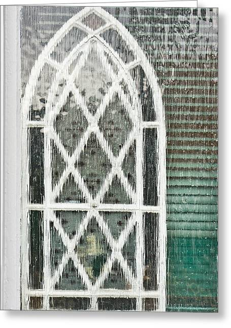 Frosted Glass Greeting Cards - Arch pattern Greeting Card by Tom Gowanlock