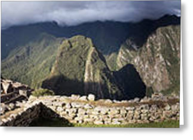 Inca Greeting Cards - Archaeological Site, Machu Picchu Greeting Card by Panoramic Images