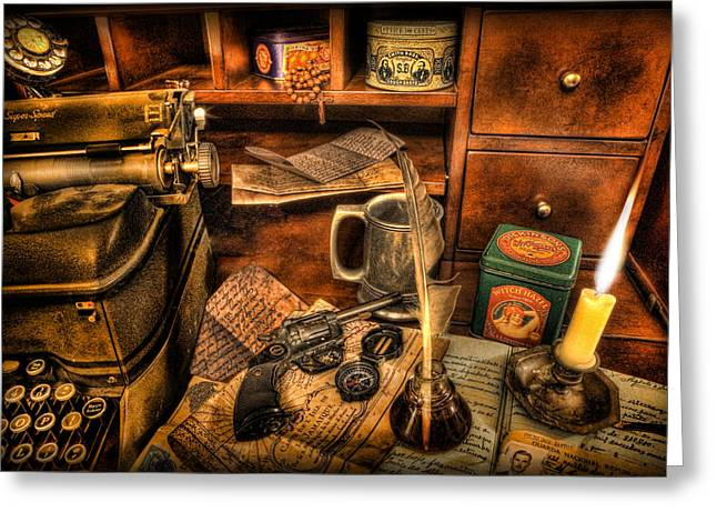 Indiana Photography Greeting Cards - Archaeologist -  The Adventurers Jornal Greeting Card by Lee Dos Santos