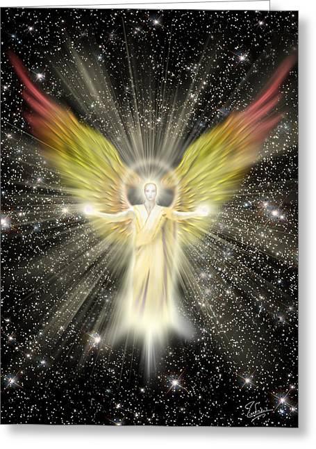Archangel Gabriel Greeting Card by Endre Balogh