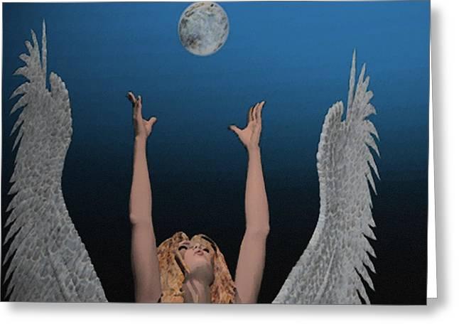 Archangel Haniel Greeting Cards - Archangel Haniel Greeting Card by Mark L Watson