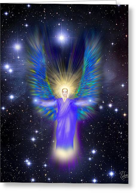 Archangel Greeting Cards - Archangel Michael Greeting Card by Endre Balogh
