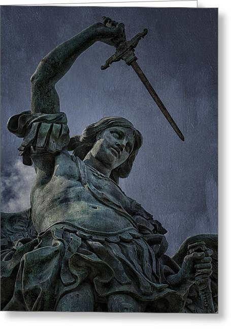 Roman Statue Greeting Cards - Archangel Michael Greeting Card by Erik Brede