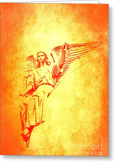 Archangel Michael  Greeting Card by Lali Kacharava