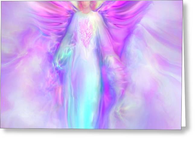 Archangel Raphael Greeting Card by Glenyss Bourne