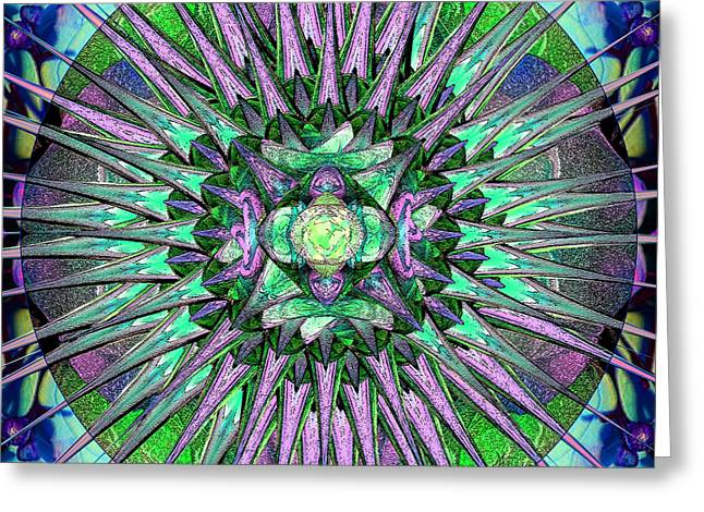 Empower Greeting Cards - Archangels Gather Mandala Greeting Card by Michele  Avanti