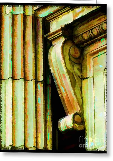 Digiral Paint Greeting Cards - Archatectural Elements  Digital Paint Greeting Card by Debbie Portwood