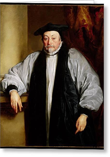 Archbishop Greeting Cards - Archbishop Laud C.1635-37 Greeting Card by Sir Anthony van Dyck