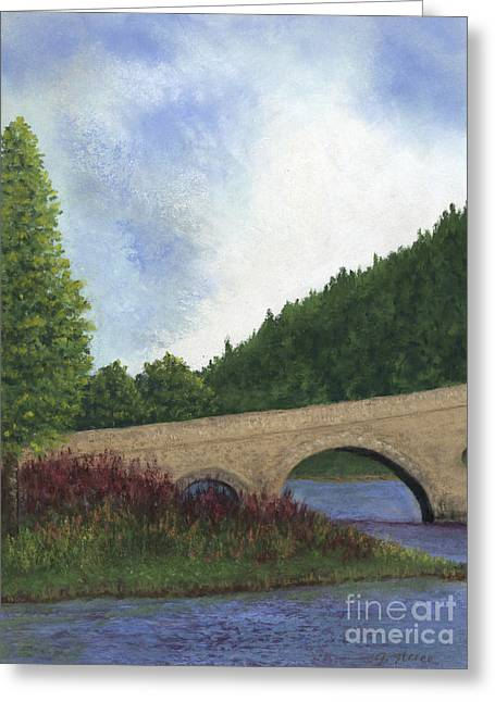 Peepholes Greeting Cards - Arched Bridge Greeting Card by Ginny Neece