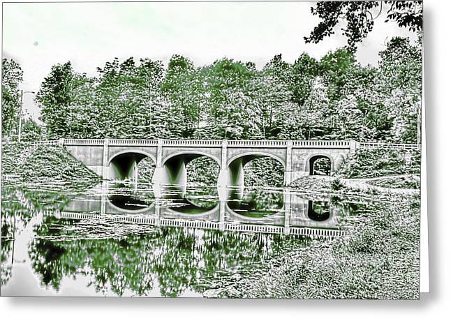 Akron Falls Greeting Cards - Arched Bridge Greeting Card by Jim Lepard