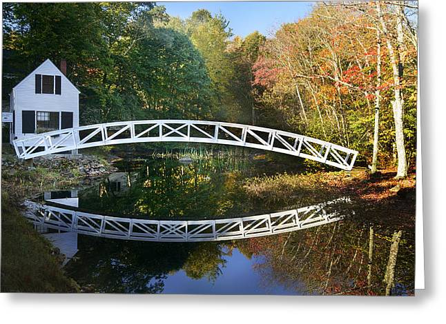 Somesville Maine Greeting Cards - Arched Bridge Greeting Card by Russell Kinerson