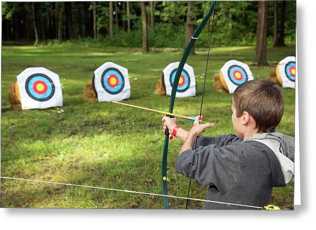Archery Greeting Card by Jim West