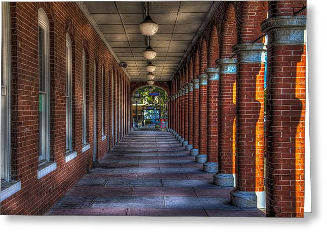 Arched Windows Greeting Cards - Arches and Columns Greeting Card by Marvin Spates