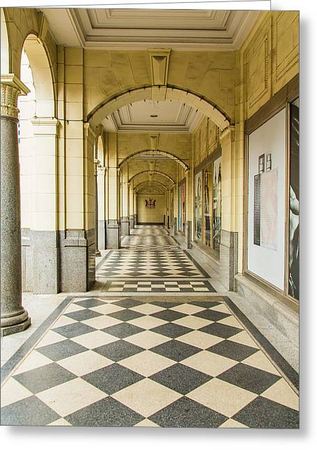 Recently Sold -  - Main Street Greeting Cards - Arches and Squares Greeting Card by Pierre Cornay