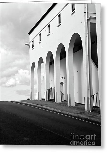 Quay Wall Greeting Cards - Arches Greeting Card by Brian Roscorla
