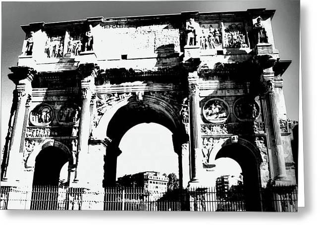 Black And White Photos Pyrography Greeting Cards - Arches I Greeting Card by Jenifer Madsen