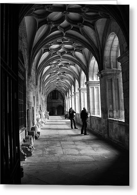 Arches In Leon Spain Greeting Card by Tom Bell