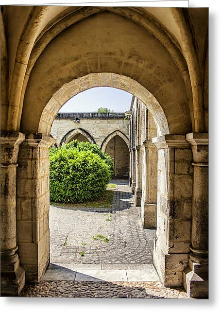 Traditional Doors Greeting Cards - Arches in Perigueux Greeting Card by Nomad Art And  Design