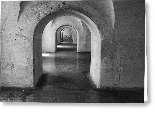 Old San Juan Wall Prints Greeting Cards - Arches Greeting Card by Kyle Wasielewski