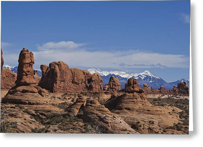Slickrock Greeting Cards - Arches National Park Greeting Card by Brian Kamprath