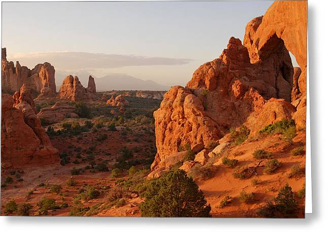 Arches National Park Landscape Greeting Card by Gregory Ballos