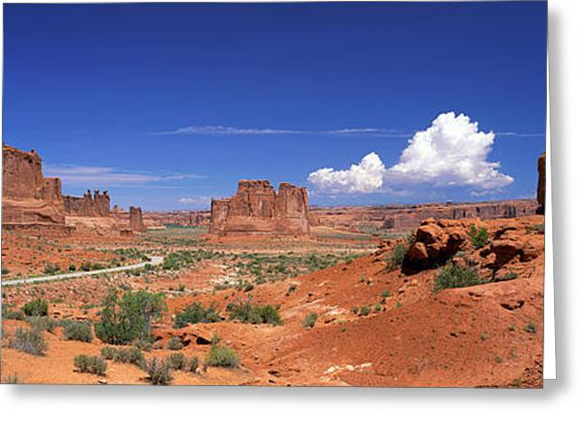 Roadway Greeting Cards - Arches National Park, Moab, Utah, Usa Greeting Card by Panoramic Images