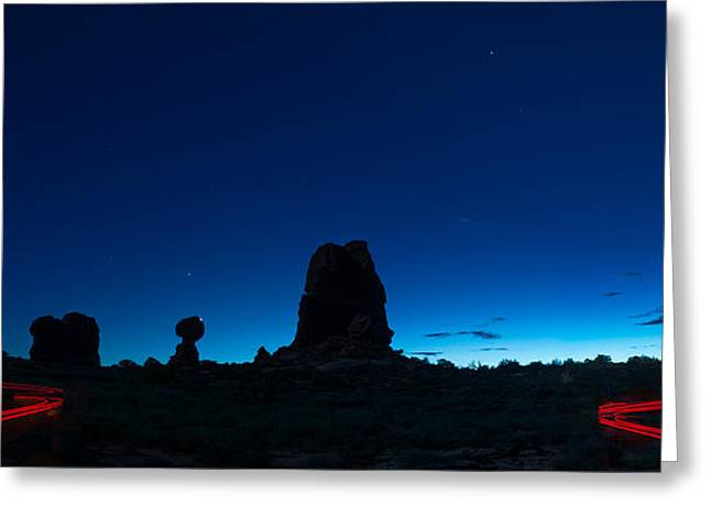 Arches National Park Greeting Cards - Arches Natl Park At Night Greeting Card by Steve Gadomski
