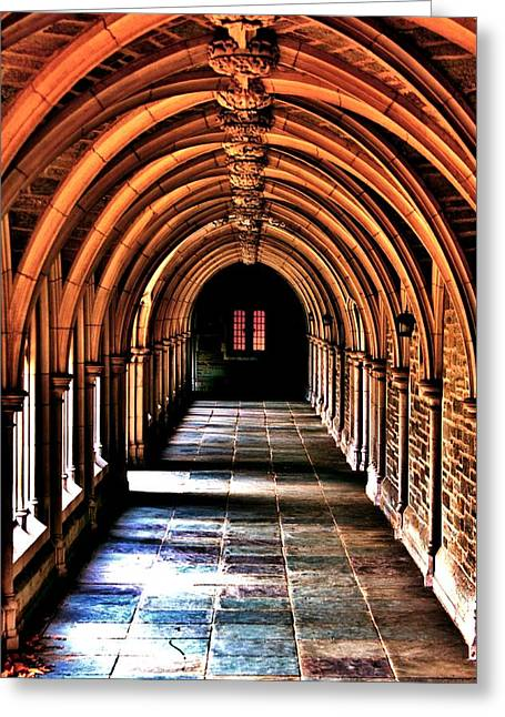 New Jersey History Greeting Cards - Arches of Princeton Greeting Card by Benjamin Yeager