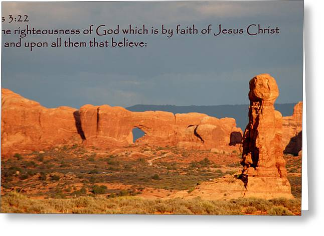 Kingjames Greeting Cards - Arches Romans 3-22 Greeting Card by Nelson Skinner