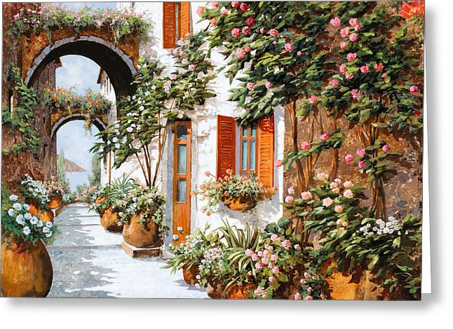 Red Doors Greeting Cards - Archi E Orci Greeting Card by Guido Borelli
