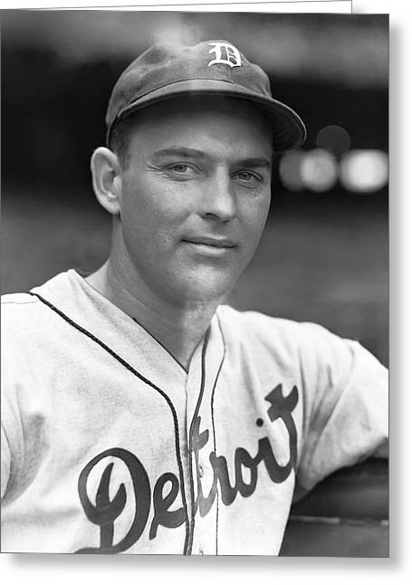 Detroit Tigers Photos Greeting Cards - Archie R. McKain Greeting Card by Retro Images Archive