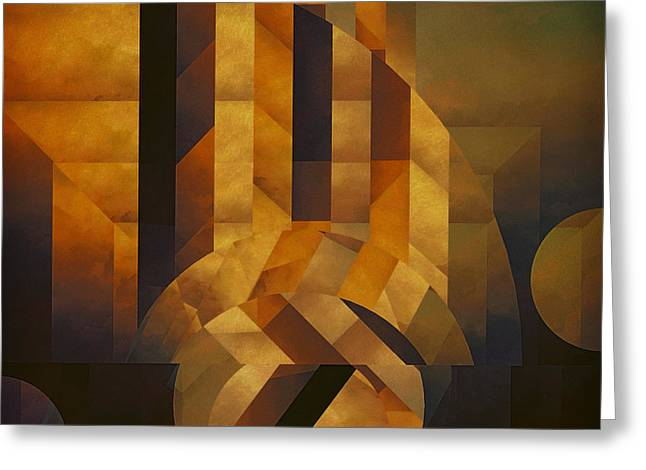 Sorrow Digital Art Greeting Cards - Architectonic Exclusion Greeting Card by LC Bailey